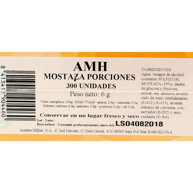Mostaza monodosis 300Uds x 6Gr cada una