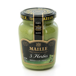 Mostaza verde a las finas hiervas 215Gr Maielle