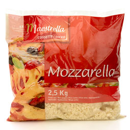 Mozzarella Maestrella pura picada 2.5Kg