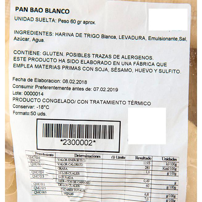 Pan Bao Cantones 60Gr 25Uds