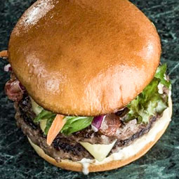 Pan hamburguesa brioche vegano 72 Ud x 66 Gr (diametro 9.5 Cm)