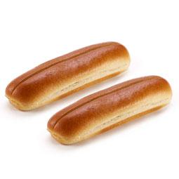 Pan hot dog corte superior 48 Ud x 85 Gr (longitud 21 Cm)
