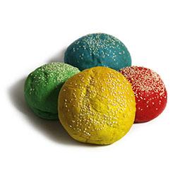 Pan burguer 4 colores 20 Uds