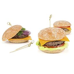 Pan Mini hamburguesa rustico 7x18ud