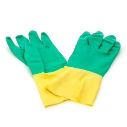Par de guantes bicolor talla s