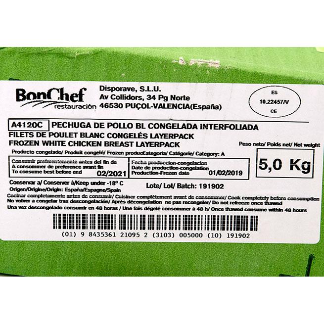 Pechuga de pollo entera extra jugosa +- 170Gr