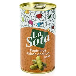 Pepinillos sabor anchoa lata