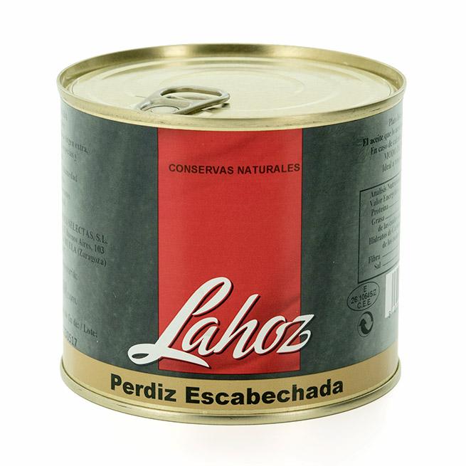 Perdiz escabechada en aceite de oliva 1 pieza Lahoz lata