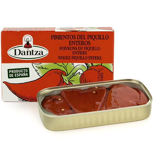 Pimientos del piquillo  navarro entero extra Dantza presentacion