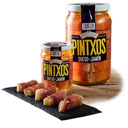 Pinchos de queso con jamón en aceite 36 Unidades