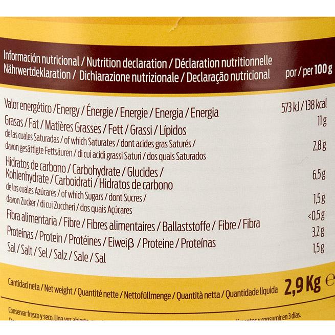 Salsa de queso ideal para nachos valores nutricionales