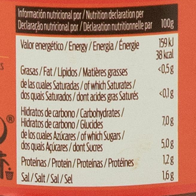 Salsa nachos ideal para dipear valores nutricionales
