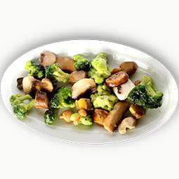 Salteado de brocoli con boletus