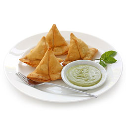 Samosas de pollo al curry