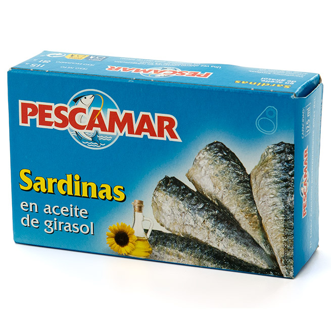Sardina en aceite de girasol