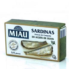 Sardina en aceite de oliva Miau 125Gr