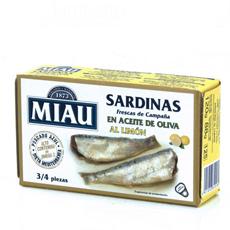 Sardina Miau en aceite de oliva al limon 125Gr