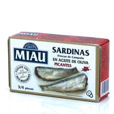 Sardina Miau en aceite de oliva picante 125Gr