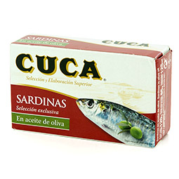 Sardinas en aceite de oliva Cuca lata