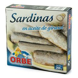 Sardinas en aceite vegetal lata