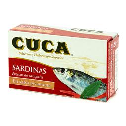 Sardinas en salsa picantona Cuca lata
