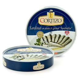 Sardinilla en aceite 280Gr Cortizo 25-30 piezas