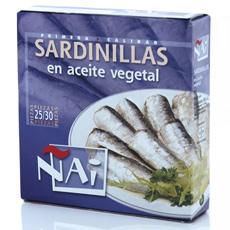 Sardinilla en aceite 280Gr Ñai 25-30 piezas