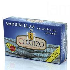 Sardinilla en aceite de oliva 125Gr Cortizo de 10 a 12 piezas