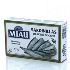 Sardinillas en aceite de oliva Miau 85Gr 7/10Pzs