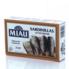 Sardinillas en escabeche Miau 85Gr 7/10 Piezas
