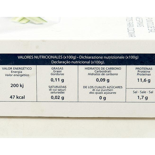 Supremas de bacalao selecto racionado a 150/250gr 2Kg