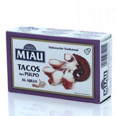 Tacos de pulpo al ajillo Miau 111Gr