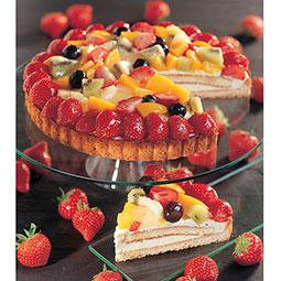 Tarta pasta quebrada y crema pastelera con frutas selectas de temporada Bindi
