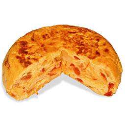 Tortilla de patata con chorizo riojano
