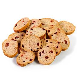 Tostaditas crujientes de frutos rojos