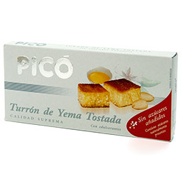 Turrón imperial yema tostada sin azúcar calidad suprema