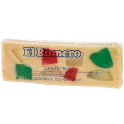 Turrón de frutas Jijona 500Gr Romero