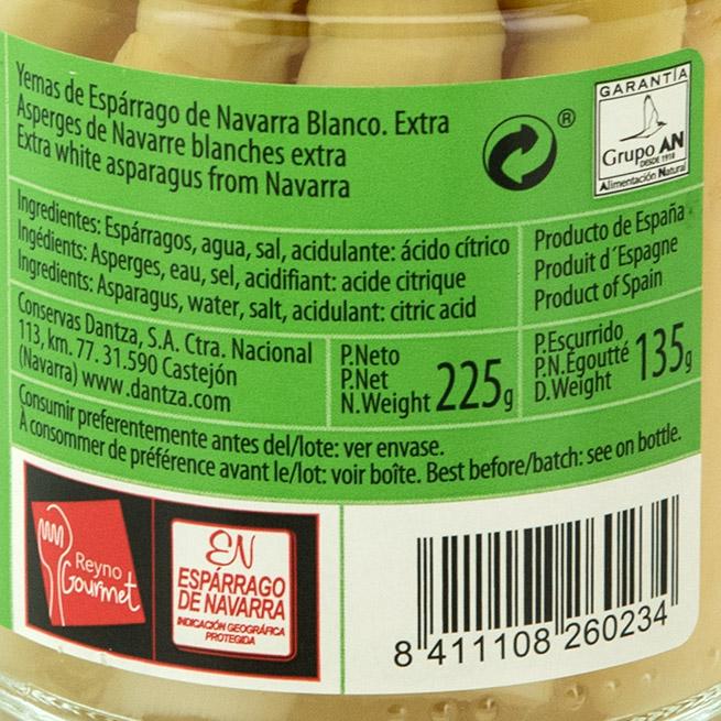 Yemas de esparrago blanco D.O. Navarra categoría extra gruesas