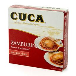 Zamburiñas 120Gr en salsa vieira 13/15 piezas CUCA